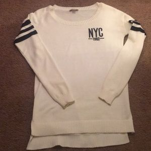 Long white oversized sweater